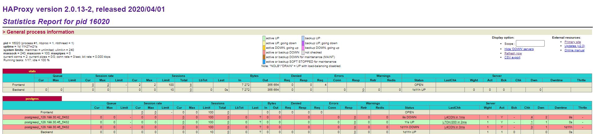 HAproxy dashboard page2